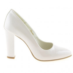 Pantofi eleganti dama 1214 lac ivoriu