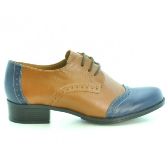 Pantofi casual dama 691 maro+indigo