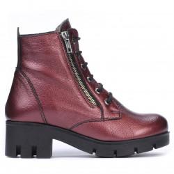 Women boots 3307 bordo pearl