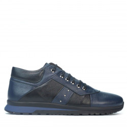 Pantofi casual barbati 4110 indigo+negru