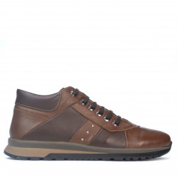 Pantofi casual barbati 4110 maro+cafe