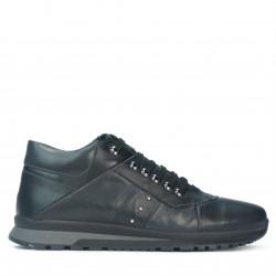 Pantofi casual barbati 4110 negru+gri