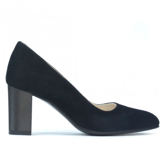Pantofi eleganti dama 1273 negru antilopa