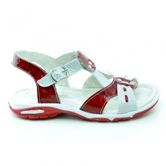 Sandale copii mici 10c lac rosu+alb