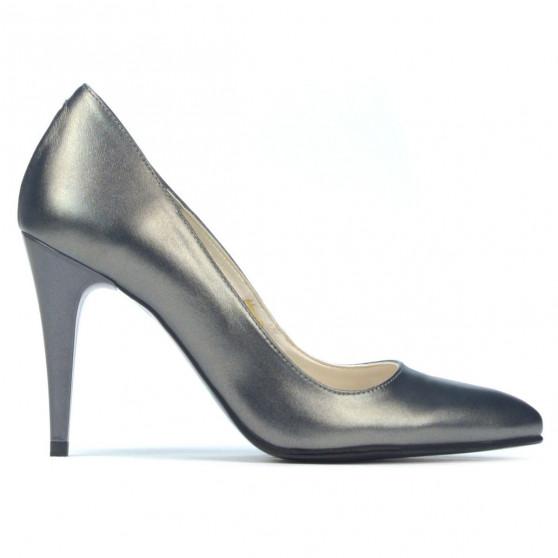 Women stylish, elegant shoes 1246 gray metalizat