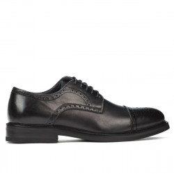 Men stylish, elegant shoes 896 black