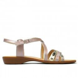 Sandale dama 5058 roz prafuit combinat