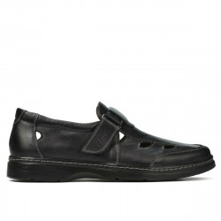 Men loafers, moccasins 897 black