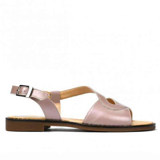 Sandale Dama 5059 Roz Prafuit Pret Accesibil Piele Naturala