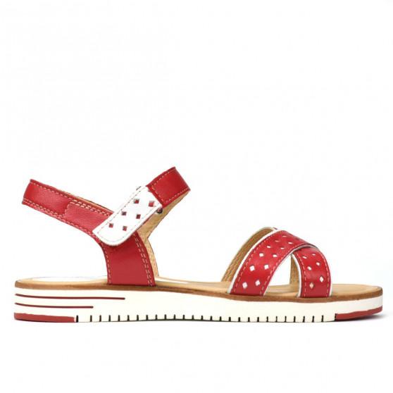 Sandale dama 5061 ginger+alb