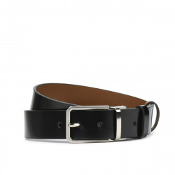 Men belt 35b bicolored black+brown