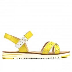 Women sandals 5061 yellow+white