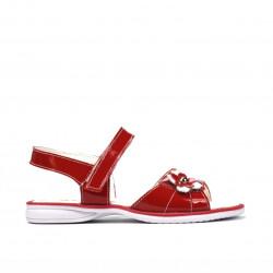 Sandale copii mici 55c lac rosu