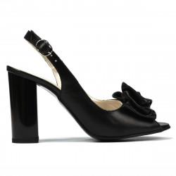 Sandale dama 1256 negru satinat