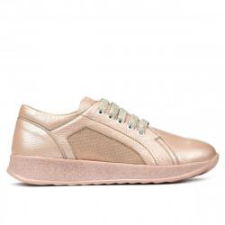Pantofi sport/casual dama 6010 pudra pearl combined