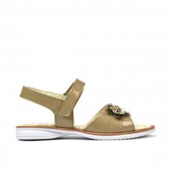 Sandale copii mici 55c lac bej