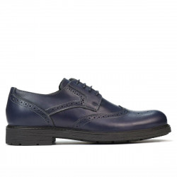 Men stylish, elegant shoes 894 indigo