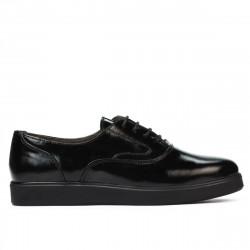 Pantofi casual dama 664 lac negru