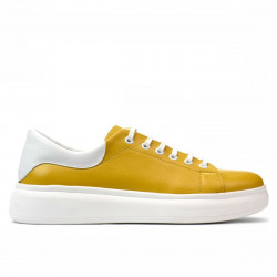 Women sport shoes 6008 yellow combined