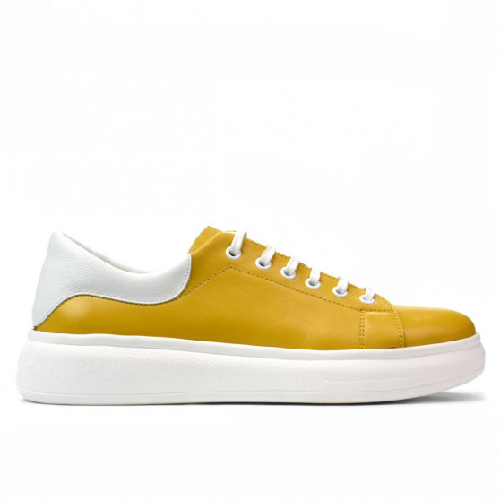 Pantofi sport dama 6008 galben combinat