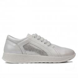 Pantofi sport/casual dama 6010 white pearl combined