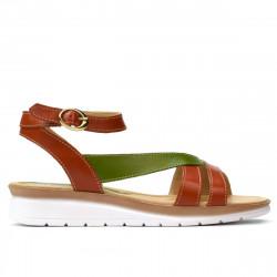 Sandale dama 5060 portocaliu combinat