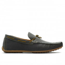Men loafers, moccasins 863 g gray