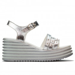 Women sandals 5064 silver