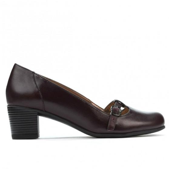 Women stylish, elegant, casual shoes 6012 bordo