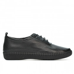 Women loafers, moccasins 688 black