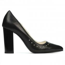 Pantofi eleganti dama 1275 negru satinat