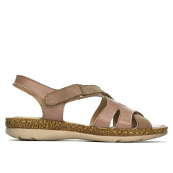 Women sandals 5062 cappuccino combined