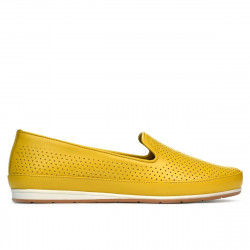 Women loafers, moccasins 6013 yellow