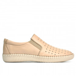 Women loafers, moccasins / adolescenti 689 beige01