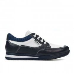 Pantofi copii 2001 indigo+alb