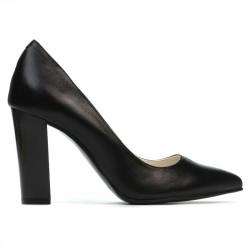 Pantofi eleganti dama 1261 negru satinat