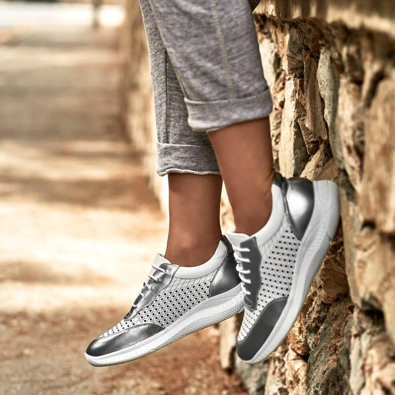 pantofi sport dama argintiu