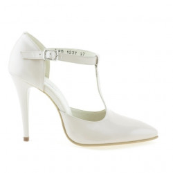 Sandale dama 1237 lac ivoriu