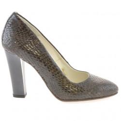 Pantofi eleganti dama 1214 croco maro