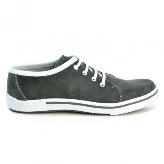 Men casual, sport shoes 722 gray velour