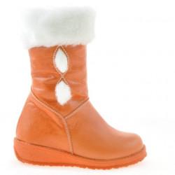 Small children knee boots 24c orange