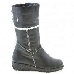 Small children knee boots 25c black+white