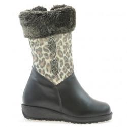 Small children knee boots 24c black+tigrays