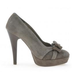 Pantofi eleganti dama 1095 capucino antilopa