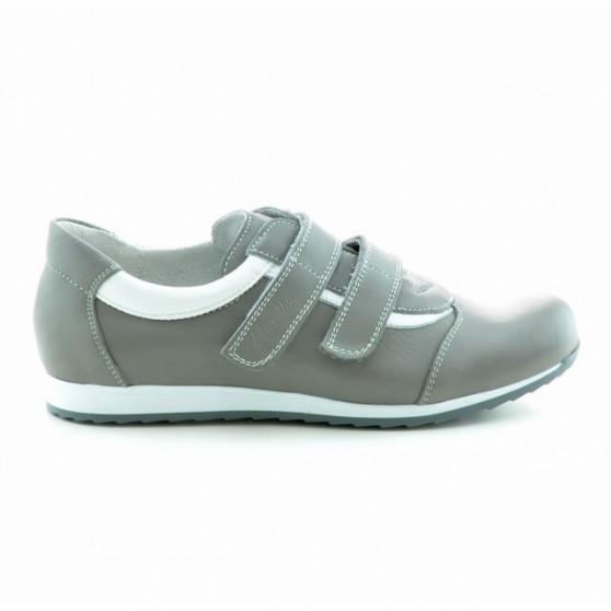 Pantofi sport dama 194 gri+alb
