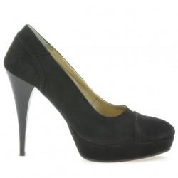 Pantofi eleganti dama 1082 negru antilopa