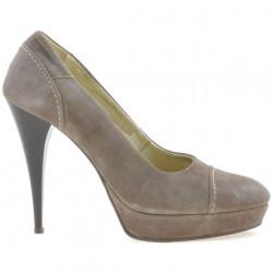 Pantofi eleganti dama 1082 capucino antilopa