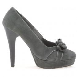 Pantofi eleganti dama 1095 gri antilopa