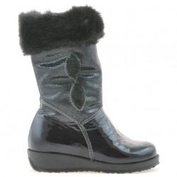 Small children knee boots 24c patent indigo