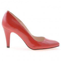 Pantofi eleganti dama 1234 lac rosu satinat
